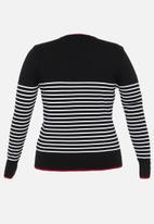 POLO - Plus Elena breton stripe knit - multi