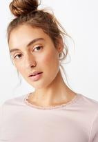 Cotton On - Bed time jersey top - crystal pink