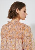 Superbalist - Shirred babydoll dress - orange