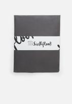 Sixth Floor - Cotton flat sheet - charcoal