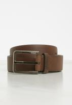 POLO - Marco leather belt - brown