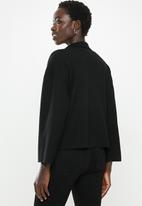 POLO - Hillary cropped relaxed jacket - black