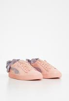 PUMA - Basket bow dots ac ps - peach bud & elderberry