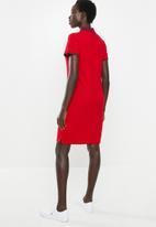 POLO - Leah short sleeve golfer dress - red