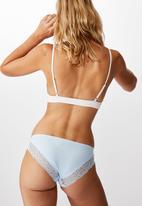 Cotton On - Party pants seamless bikini brief - baby blue