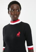 POLO - Monna rib turtle neck dress - multi