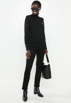 POLO - Eva long sleeve polo neck - black