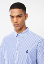 Pringle of Scotland - Daxton long sleeve styled shirt - blue & white