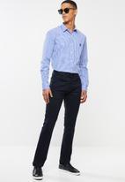Pringle of Scotland - Devin long sleeve styled shirt - blue & white
