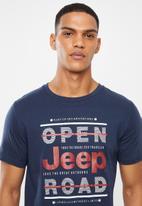JEEP - Slogan short sleeve tee - blue