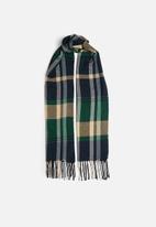 edit - Plaid blanket scarf - multi