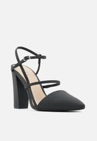 Call It Spring - Crocea heel - black