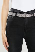 Sissy Boy - Ryder high waist skinny with flap and belt - black