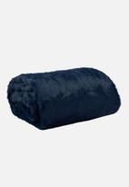 Hertex Fabrics - Panther faux fur throw - midnight