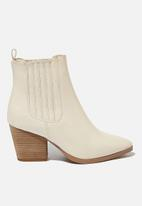 Cotton On - Jolene gusset boot - ecru