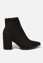 Cotton On - Amina heeled dress boot - black