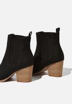 Cotton On - Jolene gusset boot - black