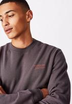 Cotton On - Modern edition crew fleece  - faded slate
