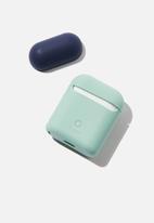 Typo - Ear pod sleeve - navy & green