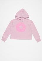 Converse - Converse girls overdye chuck patch hoody - pink