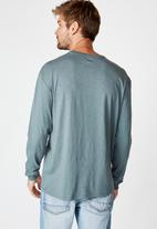 Cotton On - Otis long sleeve tee - smokey teal