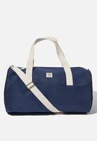 Typo - Canvas barrel bag - navy