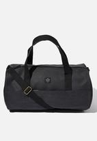 Typo - Canvas barrel bag - black