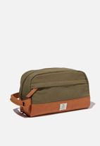 Typo - Heritage dopp bag - khaki