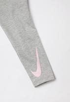 Nike - Swooshoot tunic legging set - grey & pink