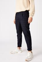 Cotton On - Oxford trouser - navy & green
