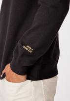Cotton On - Coke chest collab crew fleece - washed black