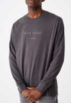 Cotton On - Abstract collective emb Tbar long sleeve - faded slate