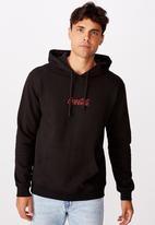 Cotton On - Mixed Coke icon collab fleece pullover -  black