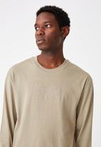 Cotton On - Strange paradise emb tbar long sleeve - moss stone