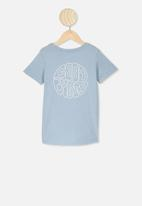 Cotton On - The cruz short sleeve long line tee - blue