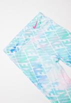 Nike - Nike girls dri fit watercolor tie dye legging - blue