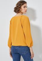 Superbalist - V-neck button down blouse - mustard