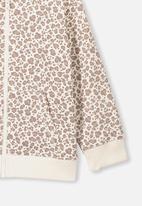 Cotton On - Sunny zip through hoodie - cream & brown