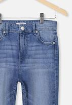 Free by Cotton On - Slim leg jean - mid denim