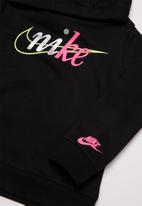 Nike - Nike split futura over hoodie - black