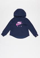 Nike - Nike girls sportswear air pull over hoodie - navy