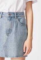 Factorie - Classic denim skirt - thrift blue