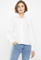 Glamorous - High neck shirt - white