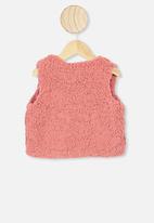 Cotton On - Alex vest - rusty blush