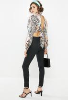 Glamorous - High neck animal blouse - multi