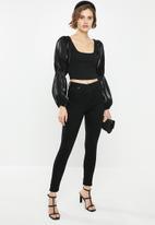 Glamorous - Square neck blouse - black