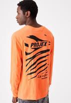 Cotton On - Projex Tbar long sleeve - sherbert orange