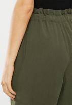 Superbalist - Premium drawstring paperbag trouser - khaki