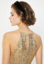 VELVET - Halter sequin blouse-gold