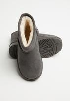 POP CANDY - Faux suede boots - grey